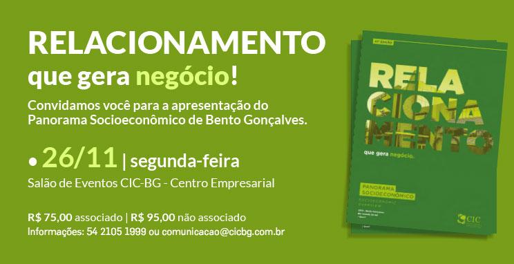 Lançamento do Panorama Socioeconômico de Bento Gonçalves