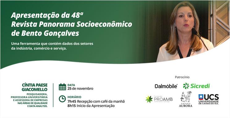 Apresentação Revista Panorama Socioecônomico