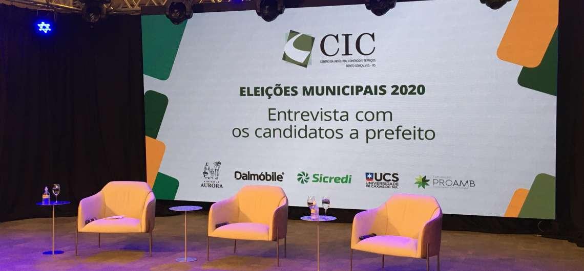CIC-BG realiza série de entrevistas com candidatos a prefeito de Bento Gonçalves