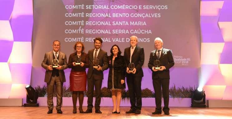 Comitê Regional Bento Gonçalves do PGQP é destaque pela quarta vez consecutiva no Prêmio Qualidade RS