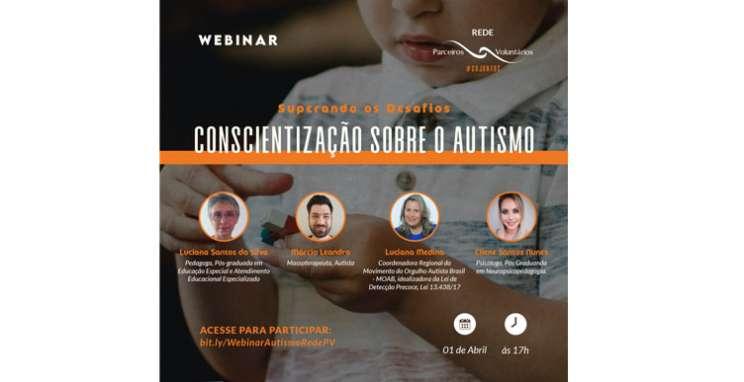 Parceiros Voluntários convida para webinar sobre autismo