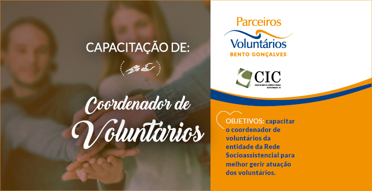 Capacitação de Coordenador de Voluntários